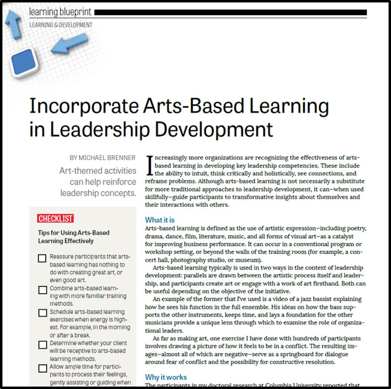 arts-based | Right Chord Leadership